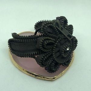 Vintage Zipper Grunge OOAK Bracelet Cuff